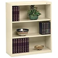 Tennsco Metal Bookcase, Three-Shelf, 34-1/2w x 13-1/2d x 40h, Putty
