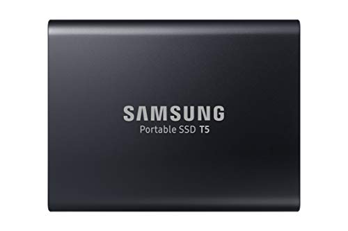 Top Storage Load Media - Samsung T5 Portable SSD - 1TB - USB 3.1 External SSD (MU-PA1T0B/AM), Black