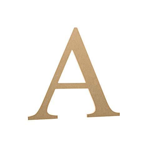 6 Wooden Greek Letter Alpha - Fraternity/Sorority Premium MDF Wood Letters (6 inch, Alpha)