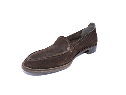(Stuart Weitzman Womens Hero Loafers Brown Suede Shoes Size 5.5 M)