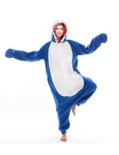 Adult Unsiex Animal Cosplay Costume Shark Onesie Pajamas