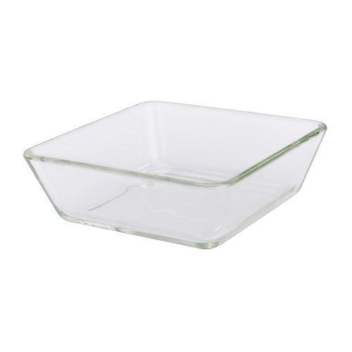MIXTUR Ofen/Servierform, klares Glas, 15 x 15 cm Größe, zum Stapeln von kleineren Größen am Großen der Serie, wenn nicht in Gebrauch Platz sparend, mikrowellen-sicher. Spülmaschinen-Sicher. Ofen-sicher.