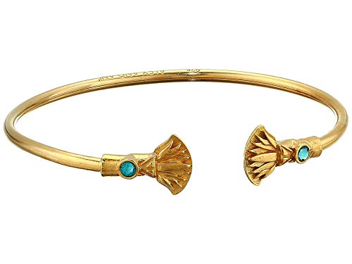 Alex and Ani Women's Blue Lotus Cuff Bracelet 14kt Gold Plated One Size ()