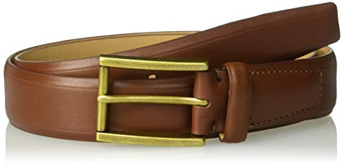 (Cole Haan Men's 32mm Smooth Leather Belt, British Tan/Old English Brass, 36)