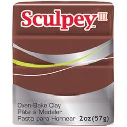 Sculpey Bulk Buy Polyform Sculpey III Polymer Clay 2 Ounces Chocolate S302-053 (5-Pack) (Clay Brown Sculpey)
