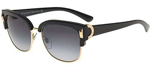 Bvlgari BV8189 501/8G Black/Pink Gold BV8189 Round Sunglasses Lens Category 3 ()