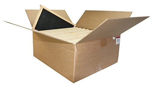 Unassembled Frame - Mann Lake Assembled Commercial Frames with Waxed Black Rite-Cell Foundation (20 Pack), 9-1/8