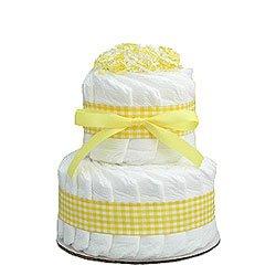 Yellow Mini 2 Tier Diaper Cake
