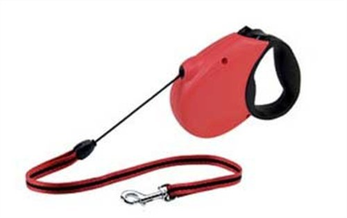 Flexi Freedom Soft Grip Retractable Cord Dog Leash, Medium, 16-Feet Long, Supports up to 44-Pound, Red/Black, My Pet Supplies