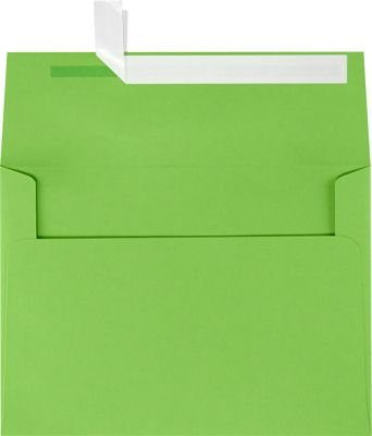 A7 Invitation Envelopes w/Peel & Press (5 1/4 x 7 1/4) - Limelight Green (50 Qty) | Perfect for Invitations, Announcements, Sending Cards, 5x7 Photos | Printable | 80lb Paper | LUX-4880-101-50