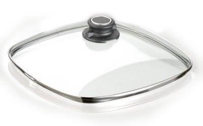 Horno resistente con tapa 28 x 28 cm con anillo de acero inoxidable todas las formas de acoplamiento