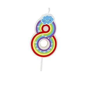 Número velas, 8 números, multicolor, velas de feliz cumpleaños para adultos y niños Happy Time