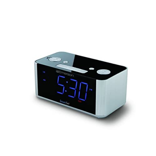 Emerson SmartSet Alarm Clock Radio, USB...