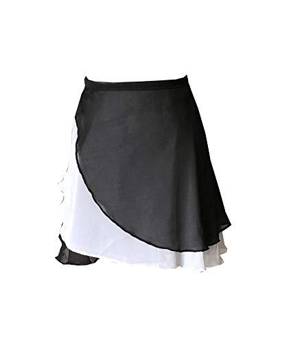 Limiles Women's Ballet Dance Wrap Skirt Chiffon Waist Tie