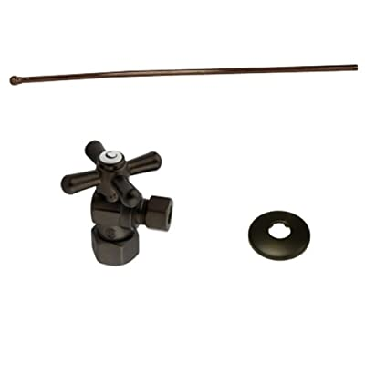 KINGSTON BRASS KTK105P Toilet Supply Kits Combo 1/2-Inch IPS Inlet, 3/8-Inch Compression Outlet, Oil Rubbed Bronze
