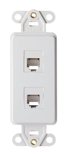 leviton-41666-w-decora-telephone-wallplate-insert-6p6c-x-6p6c-110-style-white