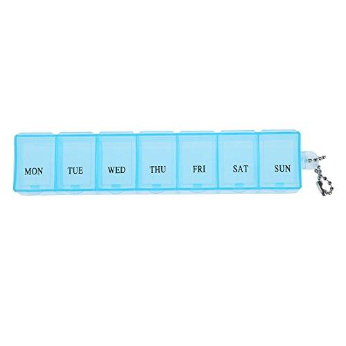 SODIAL (R) 7 Tage Eine Wochen-Box Organizer Faecher Medizin Vitamin Lagerung Reisen Kit 1 Stueck