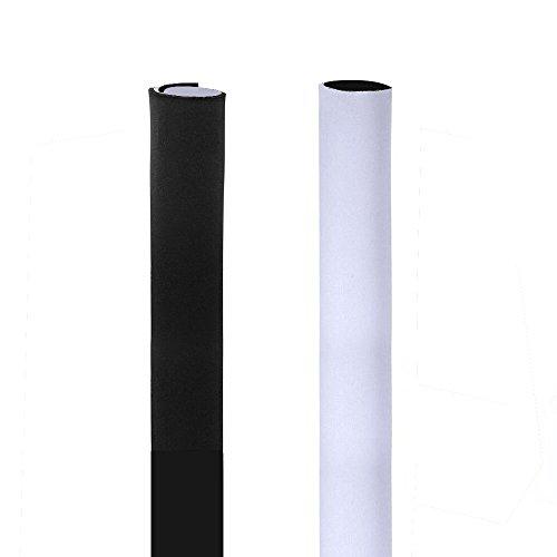 AGPTek Universeller Neopren Klettverschluss Kabelschlauch Kabelkanal Aus Neopren-Material, Mit Klettverschluss, Bis Zu 13cm, Lange 1.5m, Schwarz und Weiss