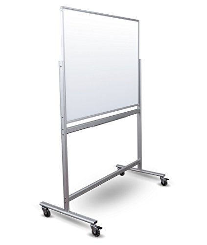 Double Sided Mobile Magnetic Glass Marker Board (48