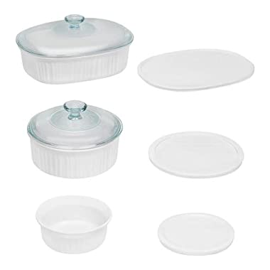 French White 8-Piece Round and Oval Baking Set
