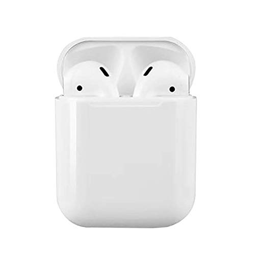 FFQNG Wireless Bluetooth Headset, Wireless Bluetooth 5.0 Binaural Touch Sports Headset with Charging Box Microphone,White