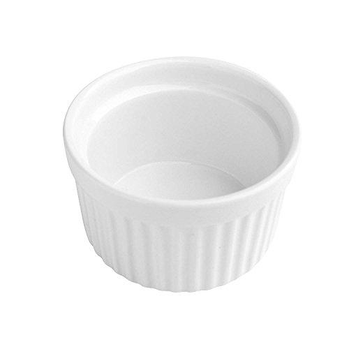 MAMA-AI Encheng 4 oz. Porcelain Ramekins, Porcelain Souffle Dishes, Ramekins for Souffle, Creme Brulee and Dipping Sauces - Set of 8, White by MAMA-AI (Image #4)