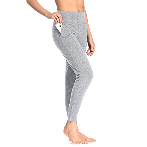 sportsnew Women Cotton Joggers Yoga Workout Sweatpants with Pockets Casual Lounge Pants