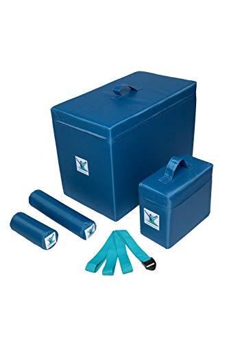 Pain Free-Posture Basic Foam Package (Blocks Large & Small, Rolls Long & Short and Strap/Yoga Belt) Bundle- Egoscue Exercises-