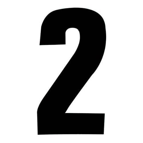 Self Adhesive Wheelie Bin Numbers 17cm - 2 - Black Classic Sign & Design