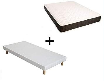 Night & Pure - Conjunto de somier + colchón con muelles ensacados de 140 x