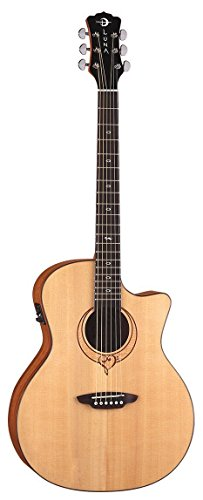 Luna Guitars Heartsong Grand Concert Acoustic-Electric Guitar Level 1 Natural (Grand Concert Acoustic Guitar)