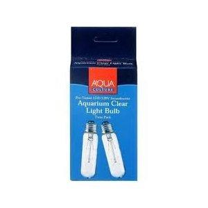 Aqua Culture 15 Watt 120 Volt Aquarium Clear Light Bulb 2 Pack ()