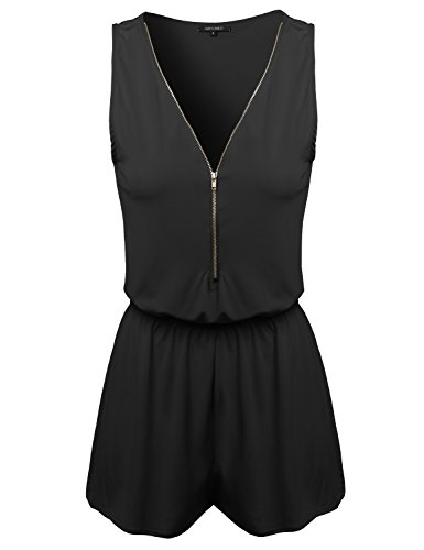 Awesome21-Womens-Zipper-Front-Surplice-Romper