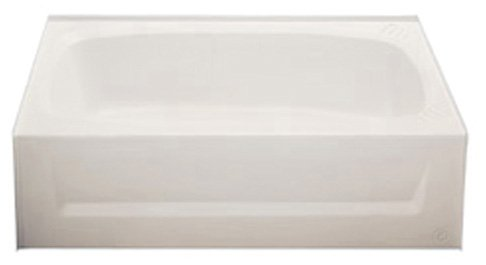 Kinro Composites ALM2754A LH-SPK Almond ABS Bath Tub with Apron