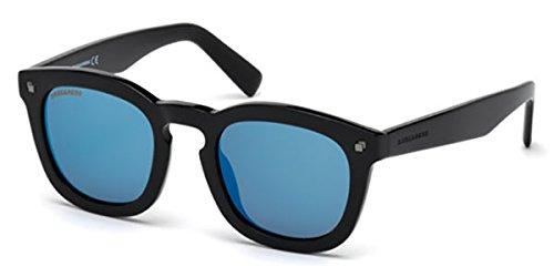 Sunglasses DSquared2 DQ 198 DQ0198 01X shiny black / blu - Sunglasses Dq