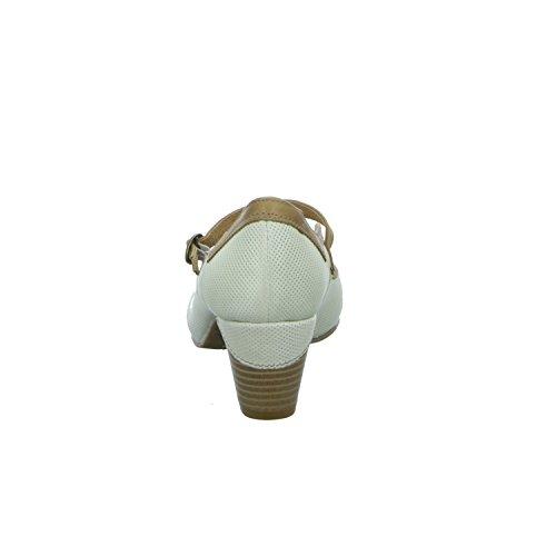 BOXX K4255-ICE Damen Pumps mit Riemen Beige (Beige)