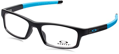 Oakley Crosslink Pitch OX8037-0152 Eyeglasses Satin Black Clear Demo Lens 52 18