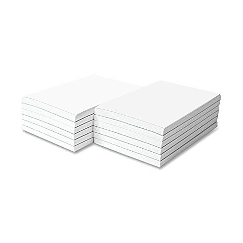 Three 50 Sheet Pads (Memo Pads, White, 50 Sheets Per Pad, 10 Pads (3 x 5))
