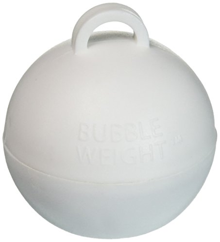 Bubble Weight Balloon Weight, 35 gram, White, 10 Piece -