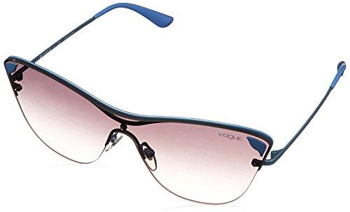 VOGUE Women's Metal Woman Non-Polarized Iridium Square Sunglasses, Matte Azure, 39 - In Vogue Sunglasses