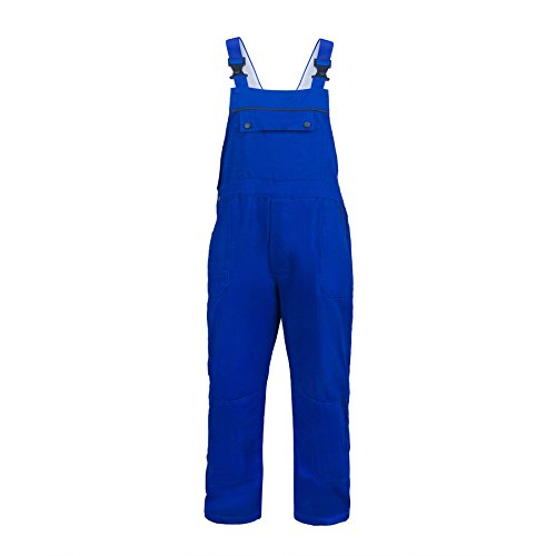 TOPTIE Men's 11.5 oz Classic Bib Overalls with Multi - Compartment Bib Pockets Royal Blue