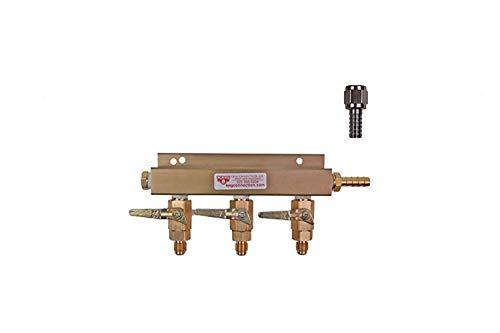 - Air Distributor - 3 way, With MFL Check Valves, 5/16