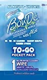 BouDe to-Go Wipes, Soft Unscented All Natural Flushable Personal Hygiene Wipes, 48 Pack Individually Wrapped