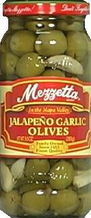 Mezzetta Olive Stuffed Jalapeno & Garlic, 9.5 oz by Mezzetta