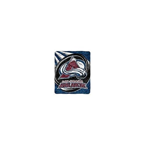NHL Colorado Avalanche Puck Sherpa on Sherpa Throw, 50'' x 60'' by Northwest (Image #2)