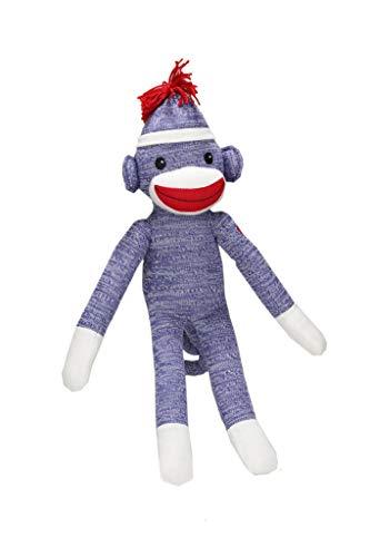 Blue Sock Monkey - Plushland Sock Monkey (Blue (You Miss Someone))