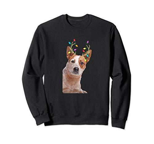 Australian Cattle Dog Reindeer Christmas Dog Sweatshirt ()