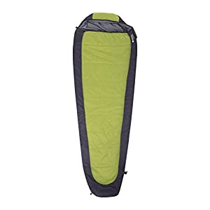 Mountain Warehouse Microlite 950 Sleeping Bag - Mummy Camping Bag Lime Right Handed Zip