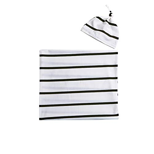 Newborn Boy Girl Coming Home Outfit Striped Sleep Sacks Gowns Swaddle +Cap ... ()