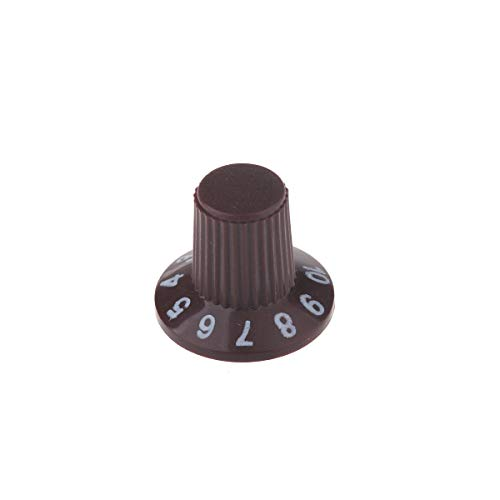 (Musiclily Plastic Witch Hat Control Knobs for Amp Effect Pedal Electric Guitar Replacement, Brown(Pack of 6))
